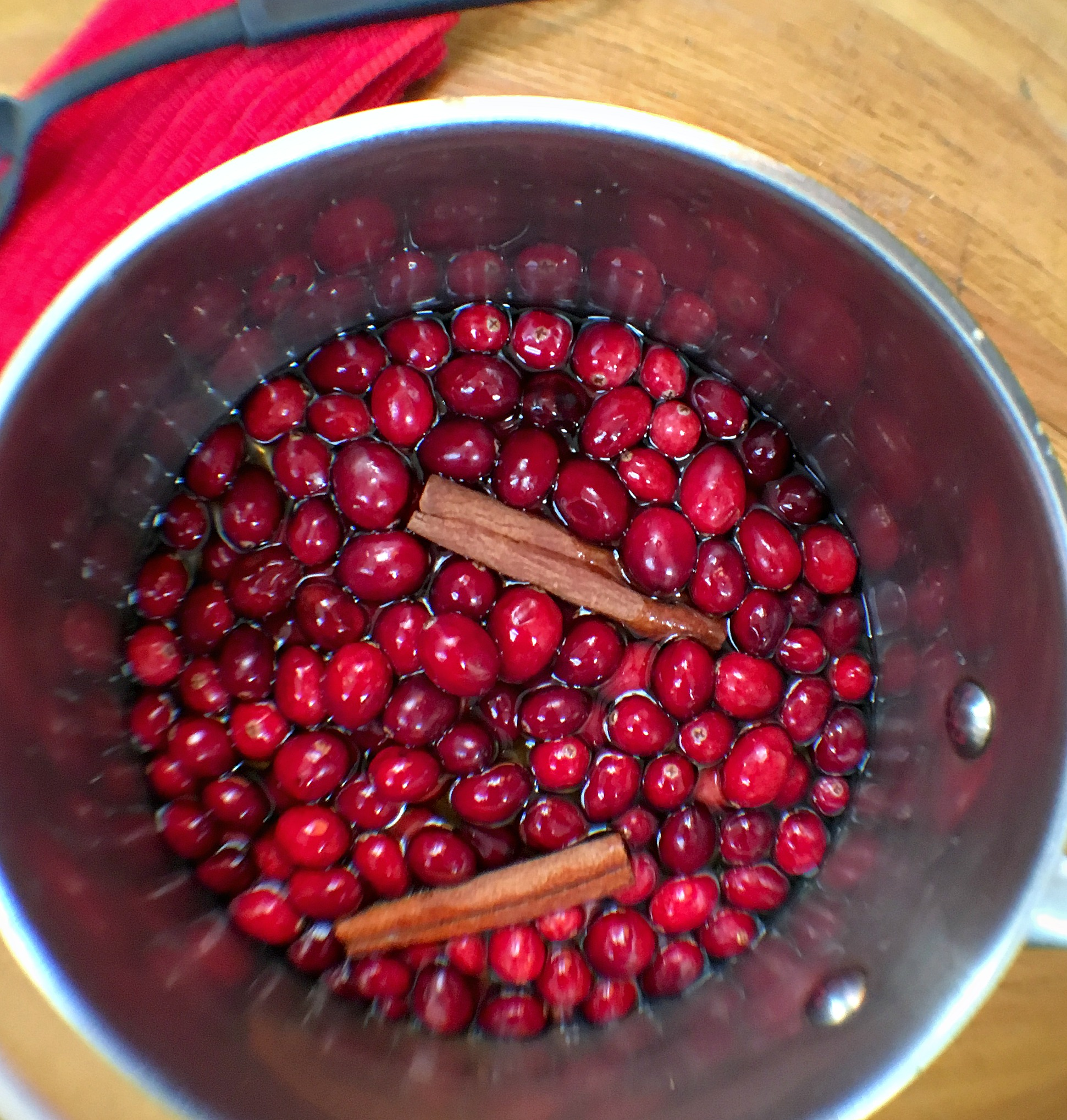 Easy Cinnamon Cranberry Chia Jam