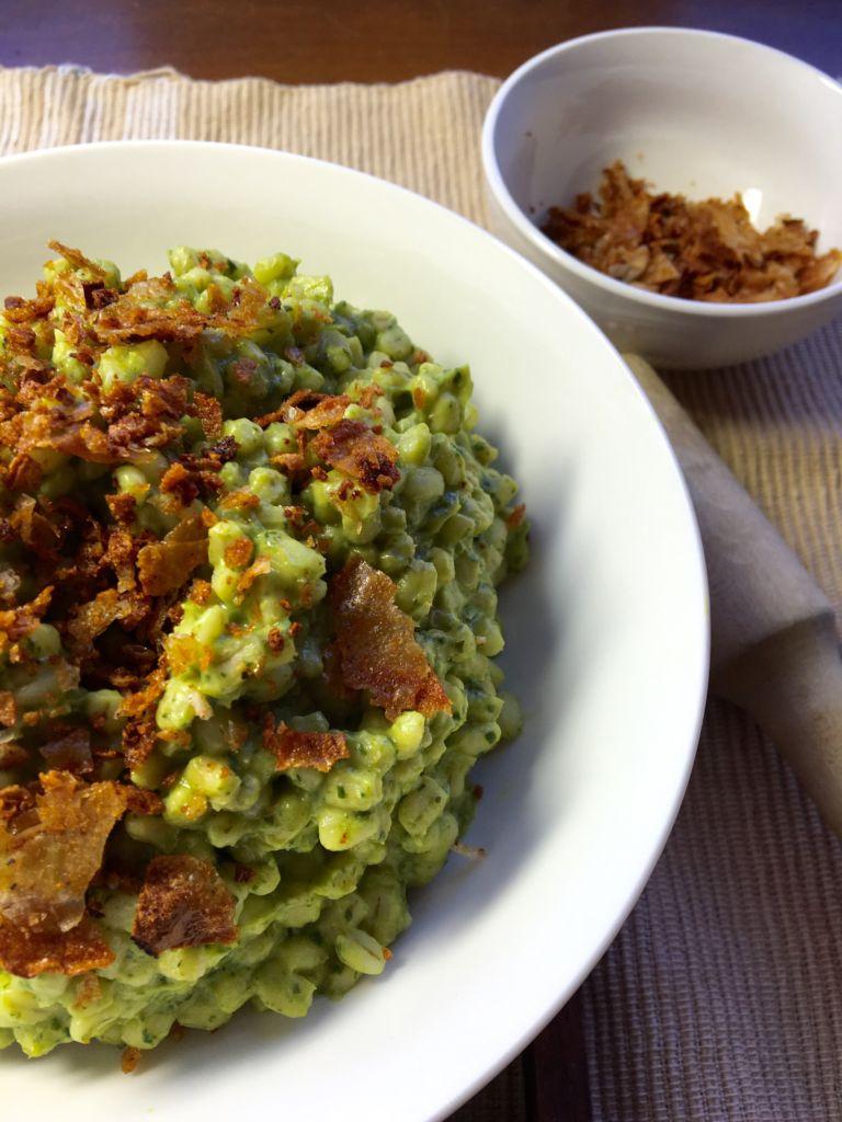 Pesto Avocado Barley Risotto - vegan, easy, healthy!