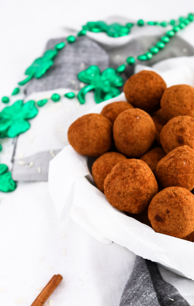 Vegan Irish Potato Candy is a Philadelphia St. Patrick's Day tradition! They're fun and easy to make and crazy-addictive! #vegan #irishpotatoes #dairyfree #candy