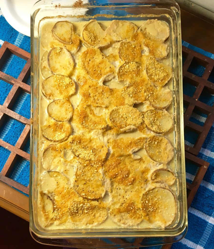 Easy Vegan Au Gratin Potatoes