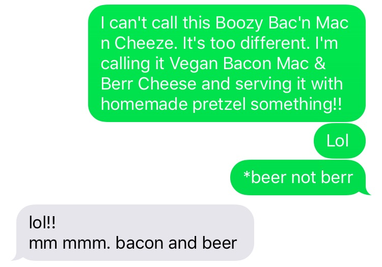 Vegan Bacon Mac and Beer Cheese