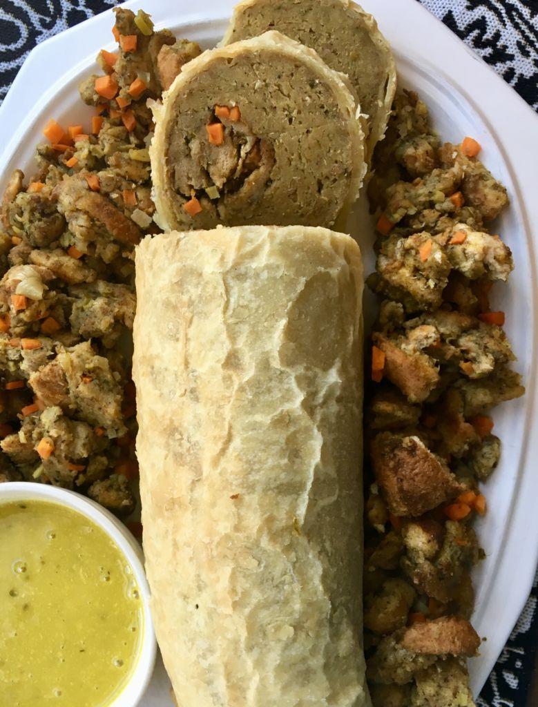 Homemade Thanksgiving Seitan Roast - a kickass vegan main dish for your holiday table // plantpowercouple.com