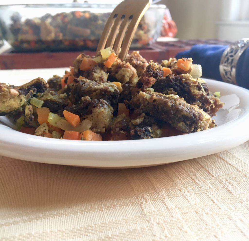 Traditional Bread Stuffing - easily and deliciously made vegan! // plantpowercouple.com