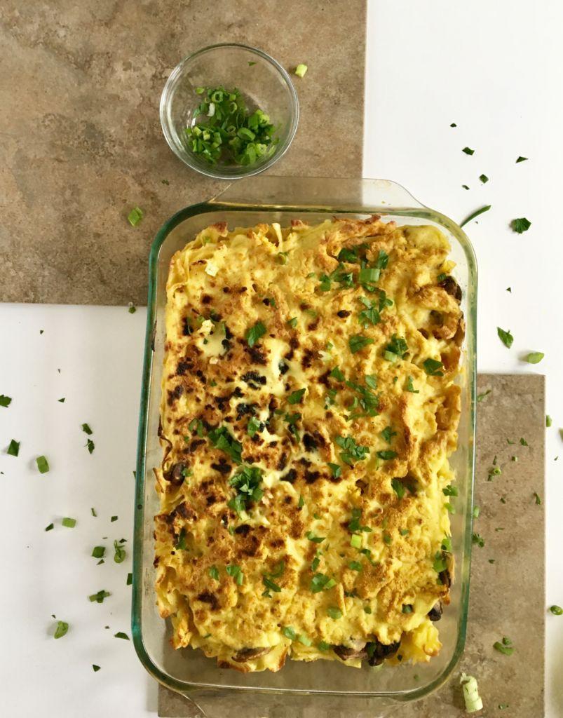 Vegan Tetrazzini - perfect kid-friendly winter comfort food! // plantpowercouple.com