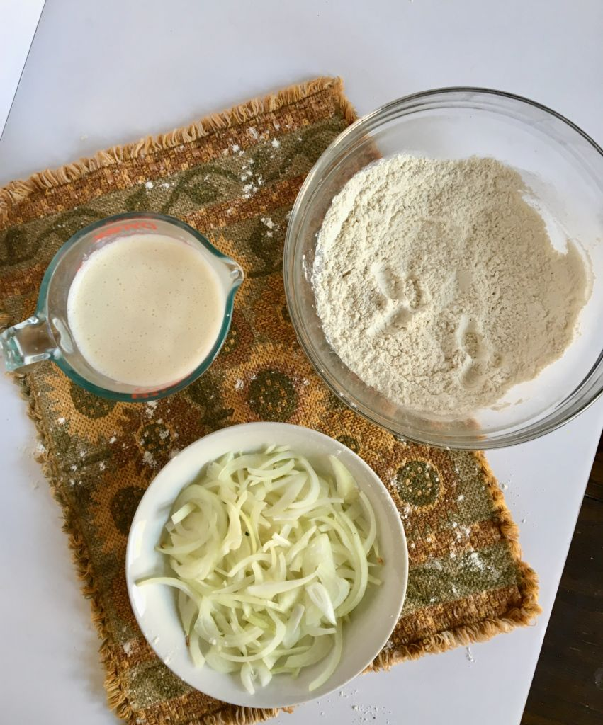 Air-Fried Onions - healthy, easy, and delicious! // plantpowercouple.com