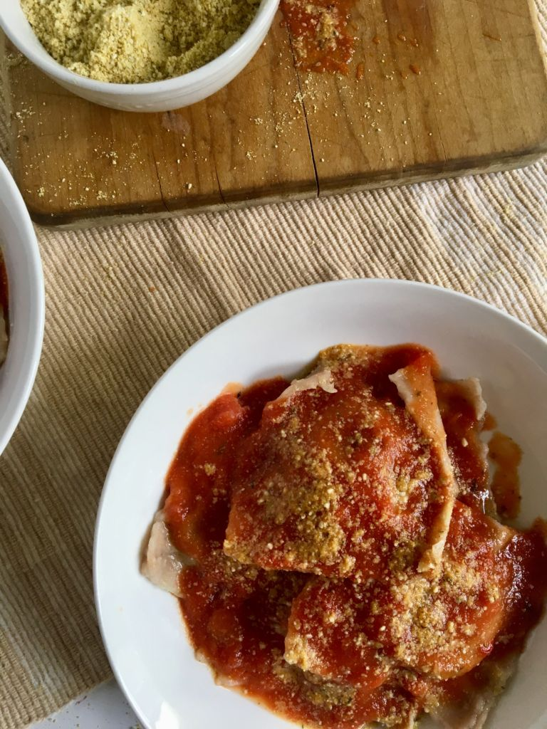 The BEST Homemade Vegan Ravioli - it's easier than you think and more delicious than you can imagine! // plantpowercouple.com