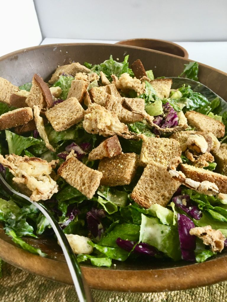 how to make homemade croutons for caesar salad