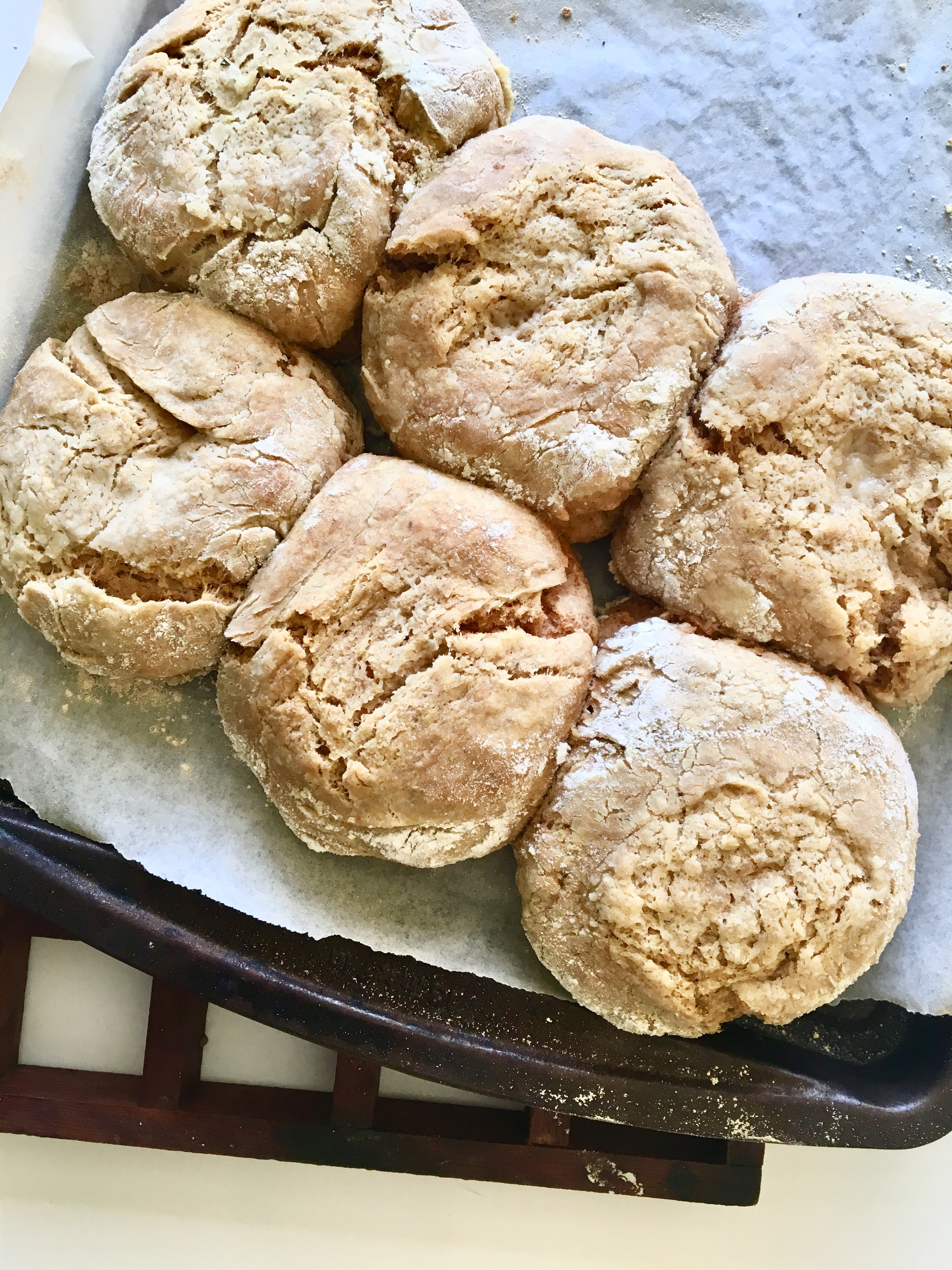 Vegan Biscuits - easy, fluffy, flavor bombs perfect for dunking in chicken(less) noodle soup // plantpowercouple.com