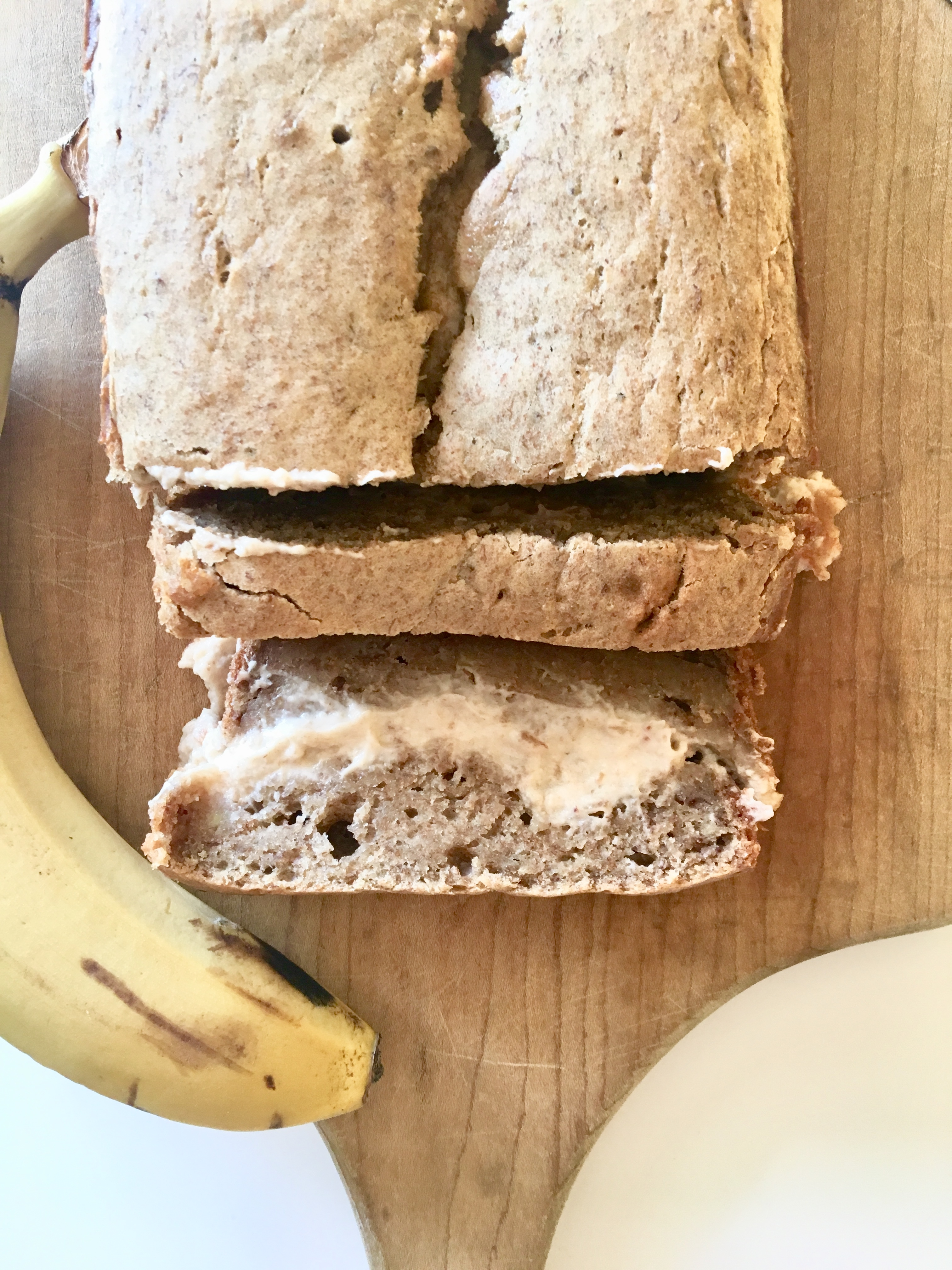 Vegan Cream Cheese Stuffed Banana Bread