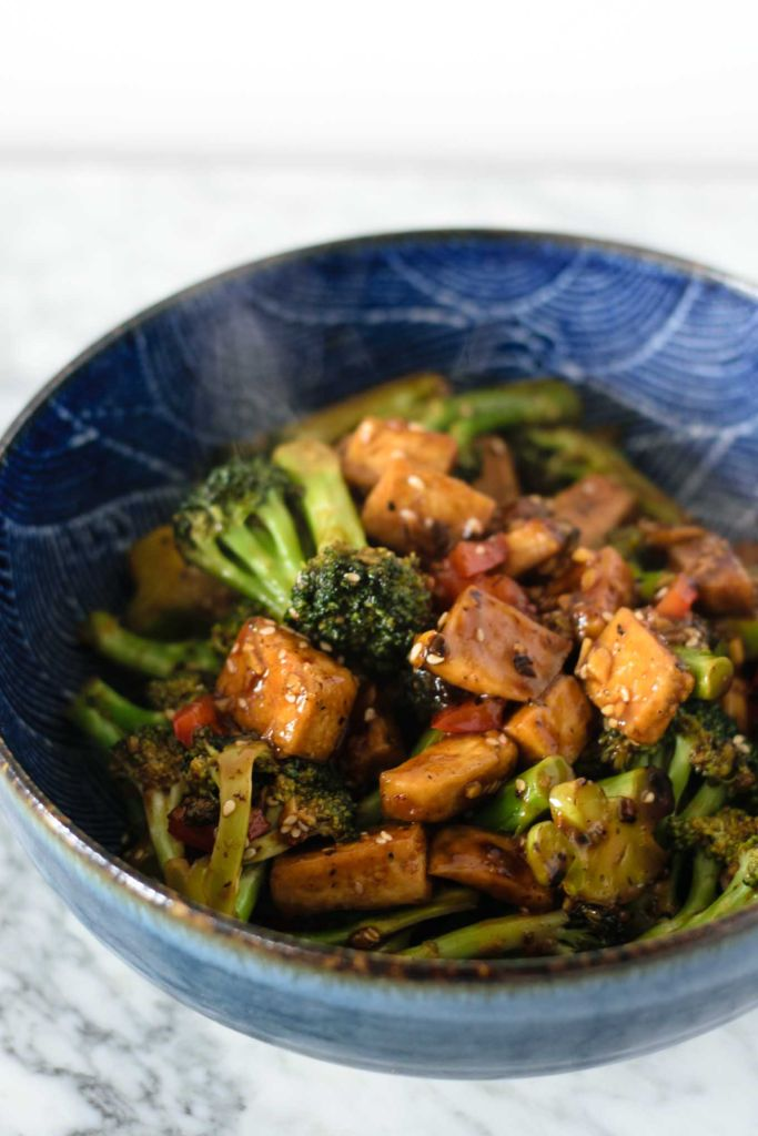 Broccoli and Tofu with Black Bean Sauce // thecuriouschickpea.com