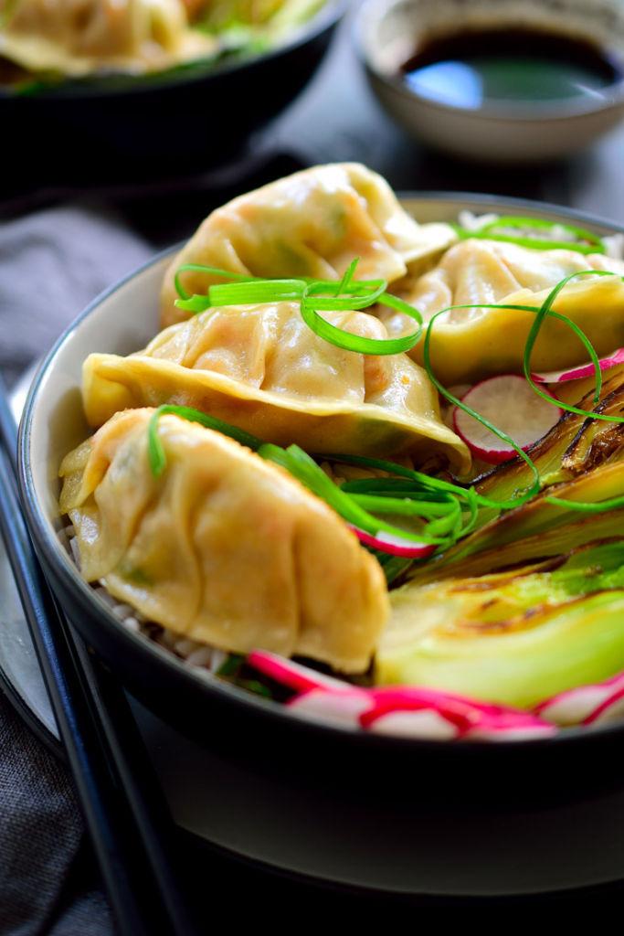 Smoky Tofu Potstickers // cilantroandcitronella.com