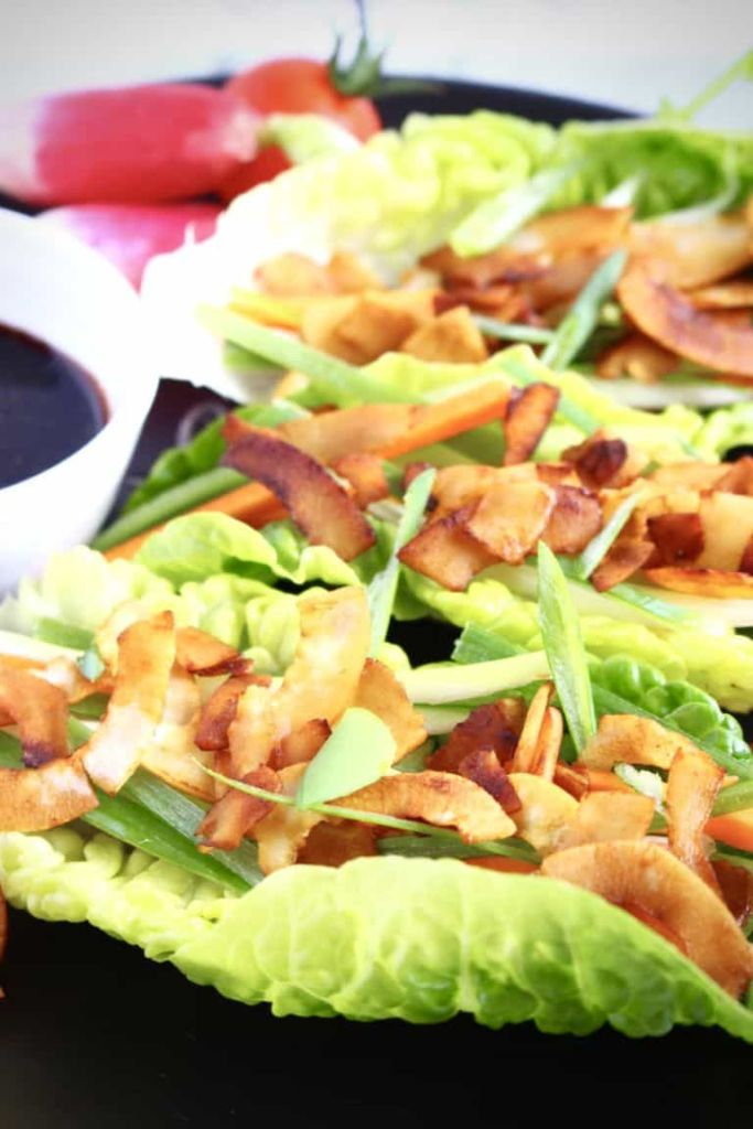 Vegan Crispy Duck Lettuce Wraps // rhiansrecipes.com