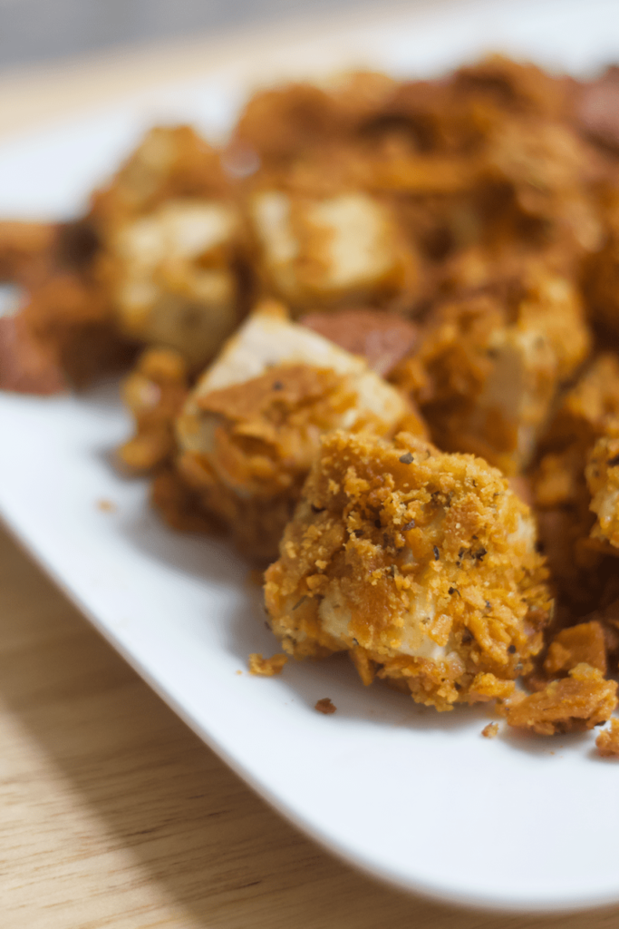 Cheesy Tofu Nuggets by Healthy Helper // 10 Classic Ballpark Foods Made Vegan