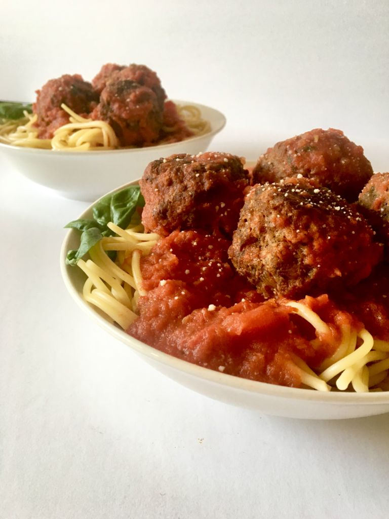 The BEST Vegan Meatballs made with TVP. They're SUPER meaty, full of spicy Italian flavor, and NOT mushy - our vegan meatball dreams come true! // plantpowercouple.com