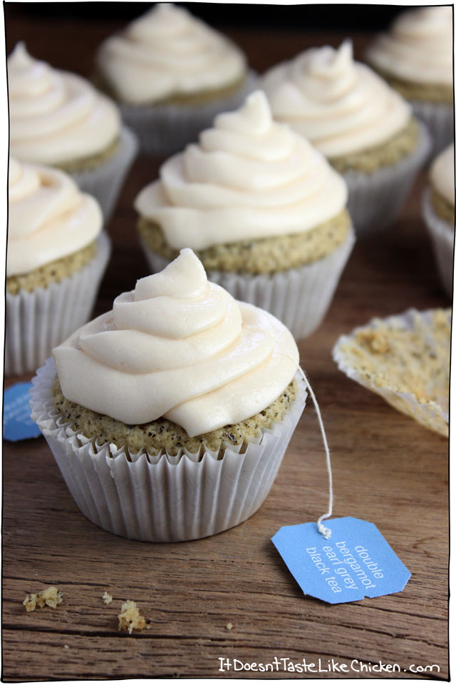 Vegan Earl Grey Cupcakes - It Doesn't Taste Like Chicken
