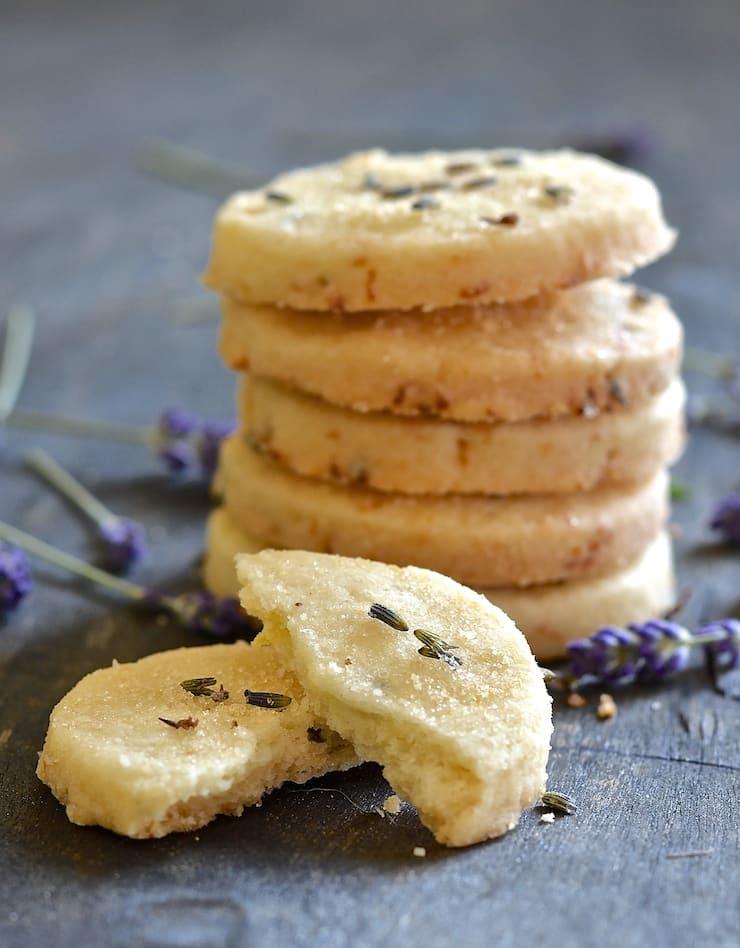 Vegan Lemon Lavender Shortbread Cookies - A Virtual Vegan
