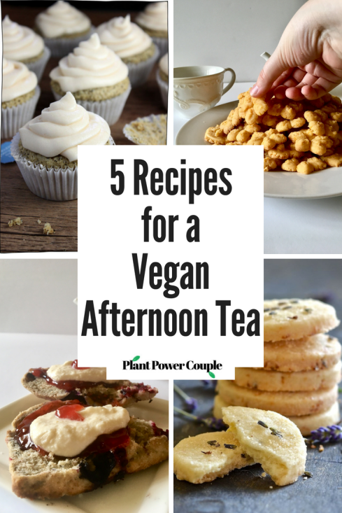 5 Recipes for a Vegan Afternoon Tea - a round-up by plantpowercouple.com