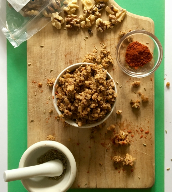 This vegan sausage-style walnut meat is a great option for topping pizzas, pasta, and even breakfast tacos! We love how easy it is to make. Plus, the taste and texture are completely OUT OF THIS WORLD! // Recipe at plantpowercouple.com