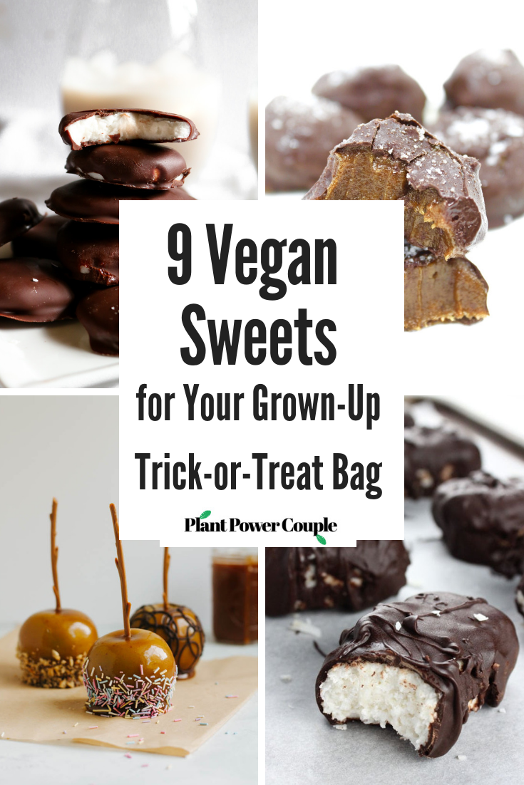 9 Vegan Sweets for Your Grown-Up Trick-or-Treat Bag // #vegan #vegandesserts #halloween #vegancandy // plantpowercouple.com