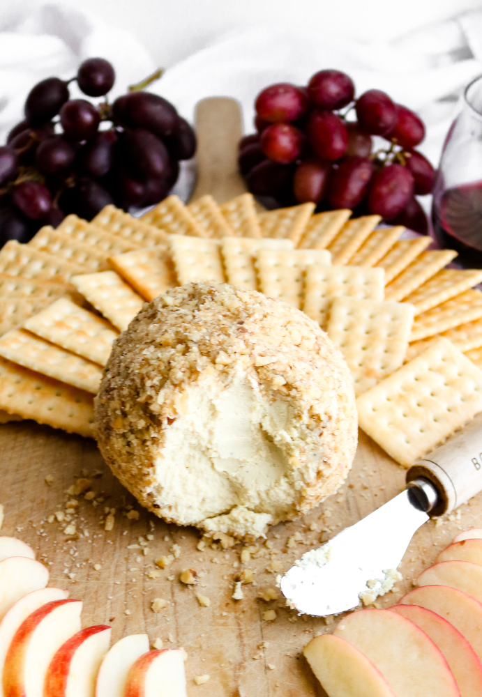 You will not believe how easy this vegan cheeseball recipe is! It uses simple methods and ingredients you probably already have in your kitchen. Not to mention, this vegan cheeseball has a killer cheesy flavor, mind-blowingly creamy texture, is omnivore-approved, and cashew-free! #vegan #appetizer #veganrecipes #tofu #plantbased #vegancheese // plantpowercouple.com