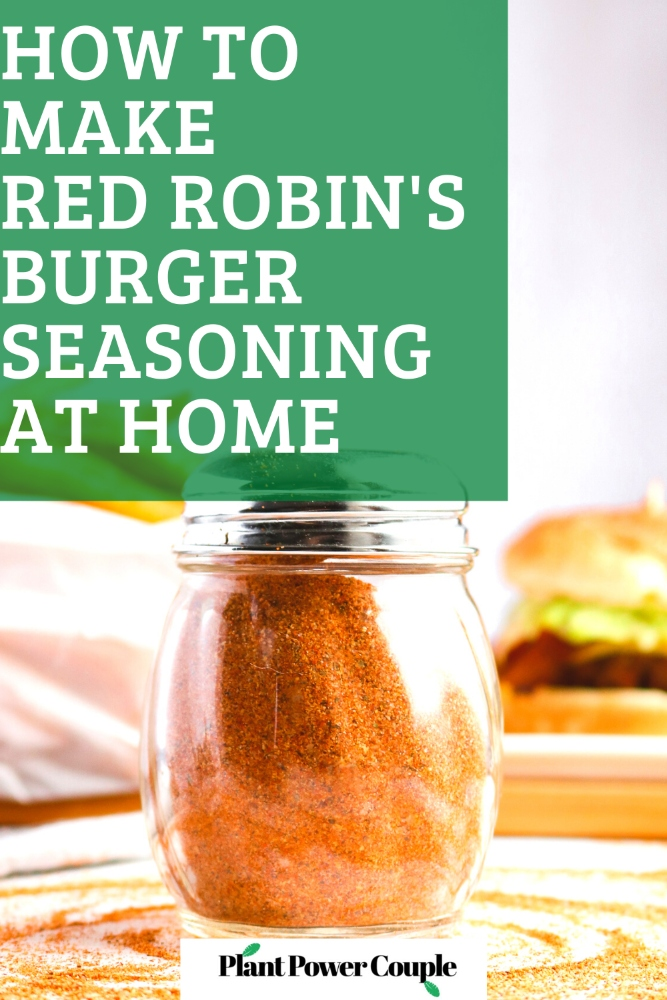 This Copycat Red Robin Seasoning is a heavenly seasoned salt that's incredible on everything from fried or roasted potatoes to veggie burgers + tacos. #vegan #seasoning #salt #paprika #recipe // plantpowercouple.com