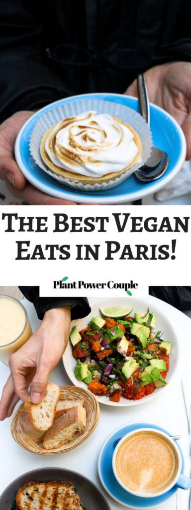 These are our must-visit places for vegan foodies in Paris! On our recent trip to Paris - and in celebration of B's 30th birthday - we were lucky enough to sample four of the 60+ amazing vegan offerings found in The City of Lights. #vegan #travel #foodie #paris // plantpowercouple.com