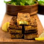 Lemon Pepper Tofu Cutlets are the perfect meal prep staple! Slice 'em up for salads, use them for sandwiches, or serve 'em over a mountain of rice for a filling and easy vegan dinner! #vegan #tofu #veganrecipe #plantbased #mealprep // plantpowercouple.com