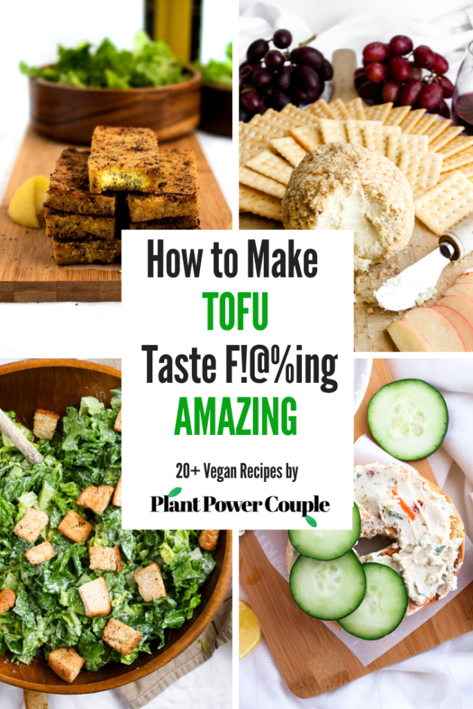 All our secrets on how to cook tofu: From meaty marinated tofu cutlets to smooth and silky protein-packed dips, here are 20+ vegan recipes to get you started (or keep you going) on your love affair with tofu! #vegan #tofu #tofurecipes #plantpowercouple // plantpowercouple.com