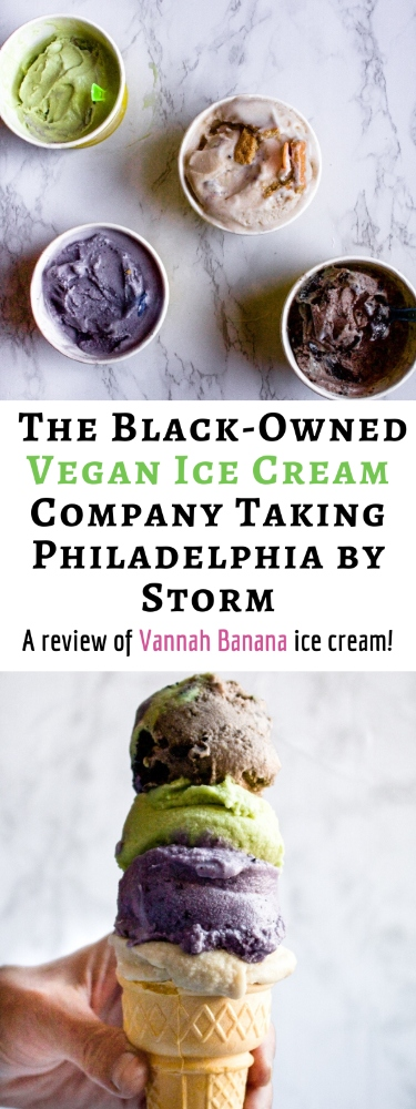 You'll go bananas for Vannah Banana's coconut-based gourmet vegan ice creams! Here we review some of the dairy-free treats from the brand-new black-owned vegan ice cream company taking Philadelphia by storm. #vegan #veganicecream #veganinphiladelphia #philadelphia #plantbased #vegandessert #dairyfree #coconut