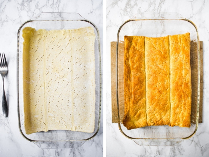 This vegan pot pie casserole is a quick and deliciously dairy-free and vegetarian version of the savory chicken pie I fell in love with in London. It's made with tremendously simple and easily found ingredients like store-bought puff pastry and frozen mixed vegetables. The hardest part of this vegan chicken pot pie recipe is waiting for it to finish cooking!