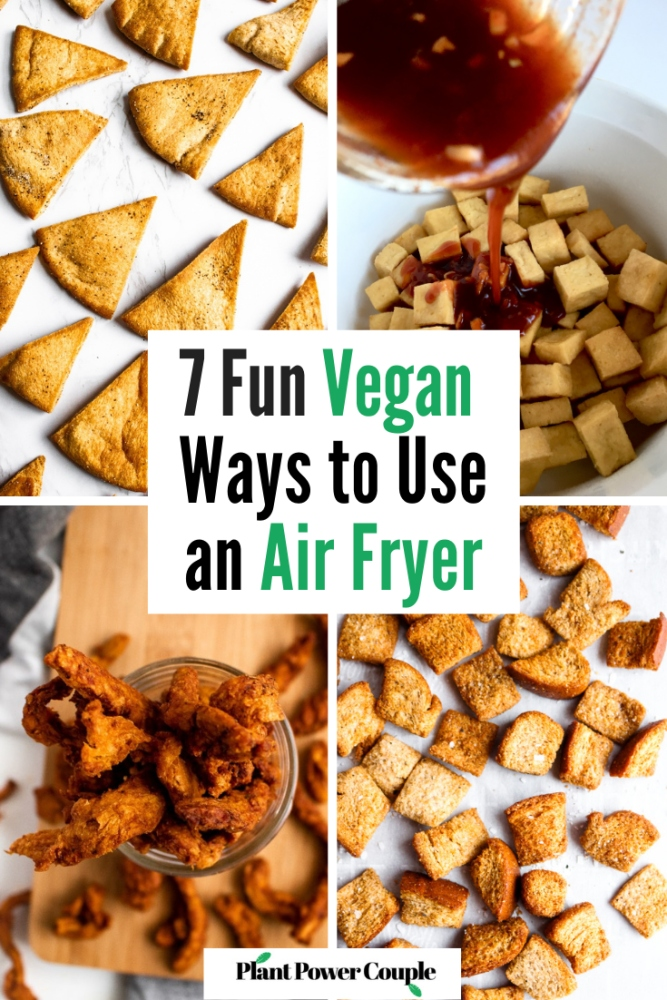 Air fryers have become insanely popular since first introduced. In this post, we'll share our best healthy vegan air fryer recipes perfect for beginners. From easy plant-based meals using oil-free air fryer tofu to the perfect quick crispy snacks, we guarantee you'll find a fun new way to use your air fryer in this post! We've also included our best air fryer tips and a review of our own air fryer. So if you've been thinking of getting an air fryer, or recently got one, settle in and learn some of the wonderful vegan ways to use it.